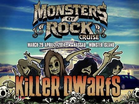 Killer Dwarfs - Monsters Of Rock - 2014 - promo flyer