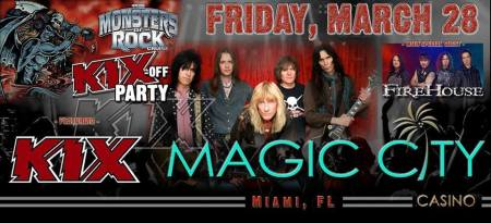 Kix - Kix off party - monsters of rock cruise - promo banner - 2014