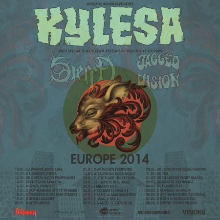 Kylesa - Europe Tour - January February - 2014 - promo flyer