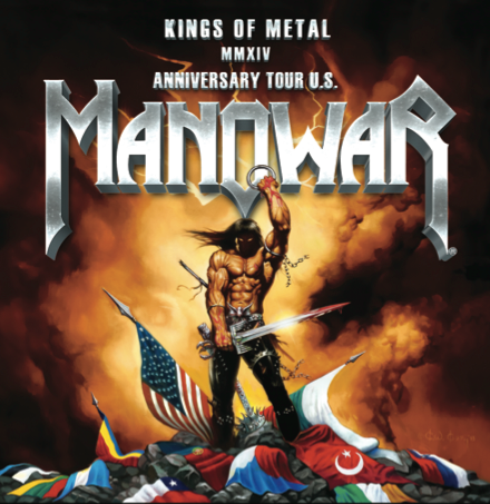 Manowar - Kings Of Metal - Anniversary Tour U.S. - promo poster pic