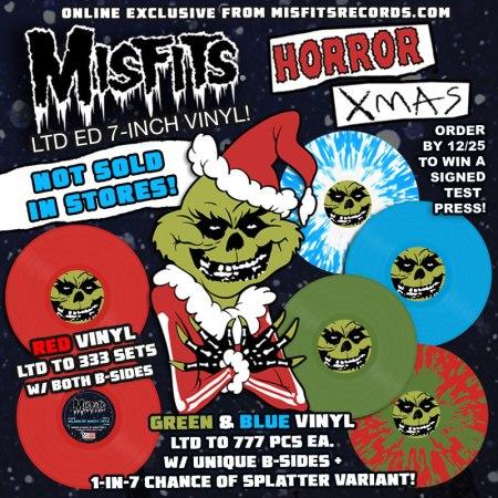 Misfits - Horror Xmas - promo flyer - Big - 2013