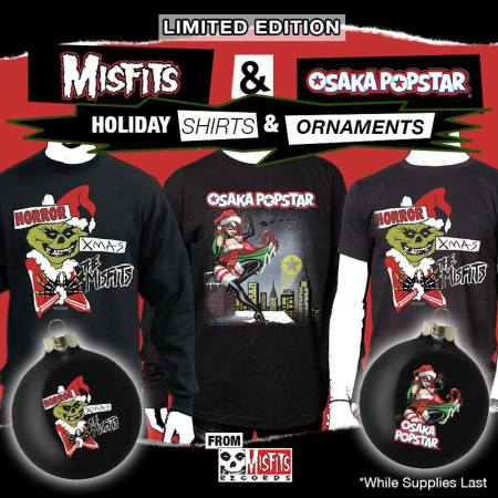 Misfits - Osaka Popstar - xmas shirts and ornaments - promo flyer - 2013