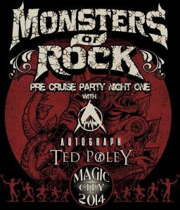 Monsters Of Rock - 2014 - Pre Cruise Party Night One - promo flyer