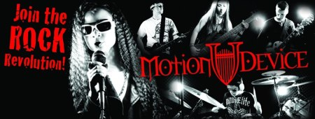 Motion Device - Rock Revolution - band pic promo banner - 2013