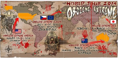 Obscene Extreme World Tour 2014 - promo pic