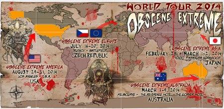 Obscene Extreme World Tour 2014 - promo pic