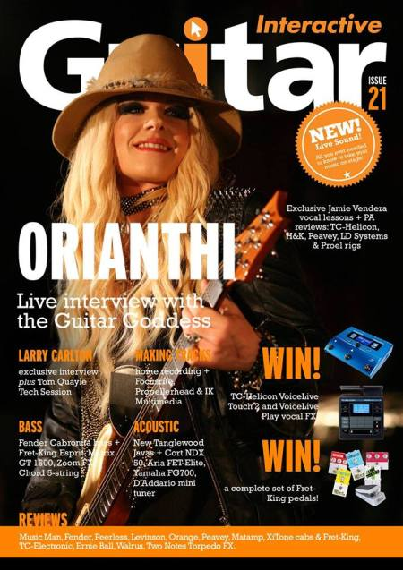 Orianthi - Guitar Interactive  - issue 21 - cover promo - 2013