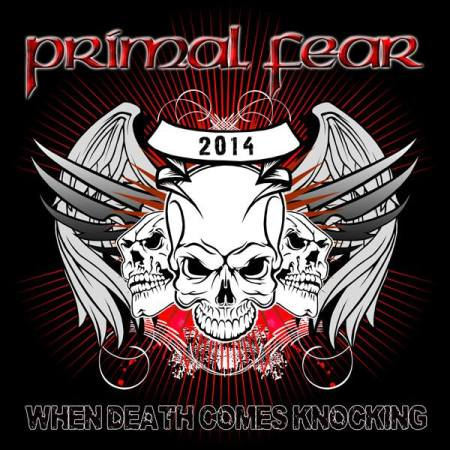 Primal Fear - When Death Comes Knocking - promo single cover art - 2013