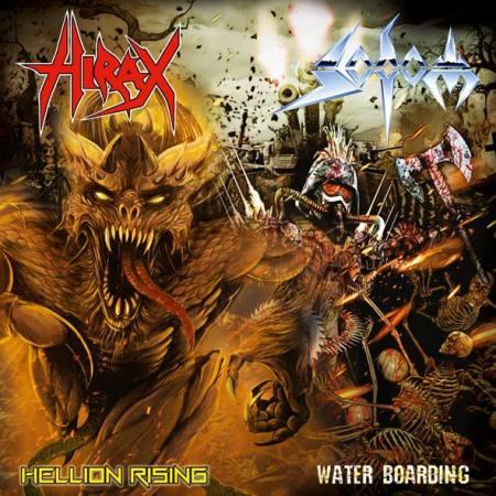 Sodom - Hirax - split single promo cover pic - 2014