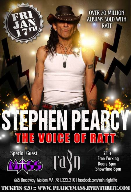 Stephen Pearcy - Ratt - Mass - January - 2014 - promo flyer