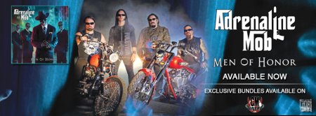 Adrenaline Mob - Men Of Honor - promo banner - band pic - 2013