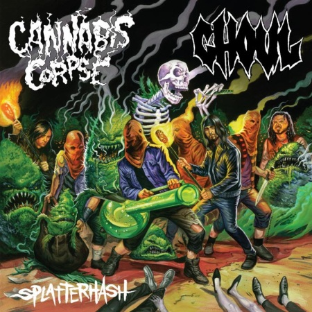 Cannabis Corpse - Ghoul - split promo cover - december 2013