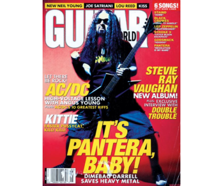 Dimebag Darrell - Guitar World - May 2000 - promo cover - 2013