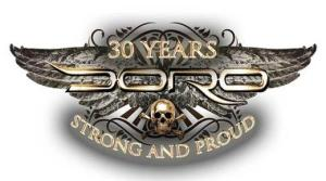 Doro - 30 years strong and proud - large logo - 2013