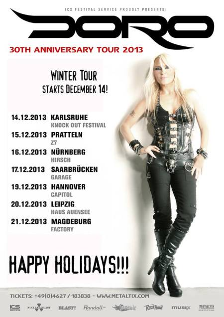 Doro - Winter Tour 2013 - promo flyer - 2013
