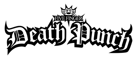 Five Finger Death Punch - black classic logo - 2013