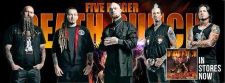 Five Finger Death Punch - promo band banner - 2013 - #1