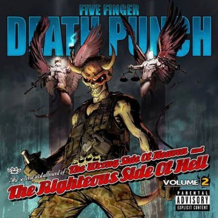 Five Finger Death Punch - wrong side of heaven volume 2 - promo cover