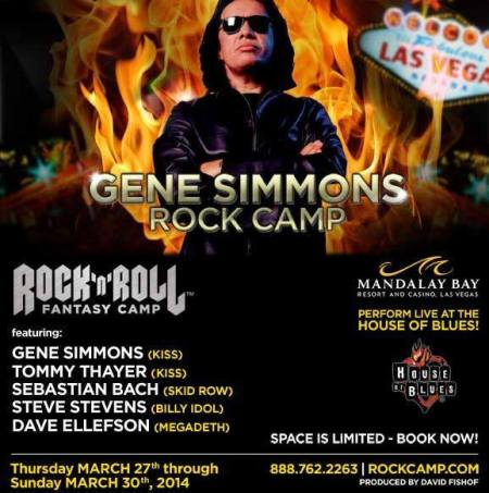 Gene Simmons - Rock Camp - promo flyer - 2014