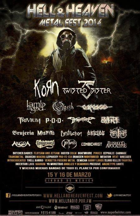 Hell & Heaven Metal Fest 2014 - promo flyer