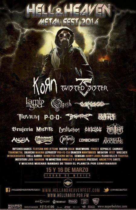 Hell & Heaven Metal Fest 2014 - promo flyer