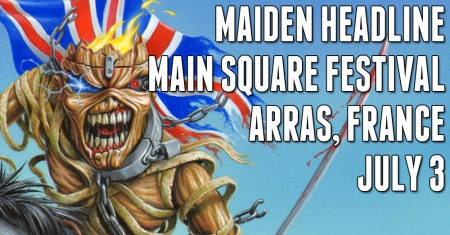 Iron Maiden - Arras Main Square Festival - France - 2014 - promo banner