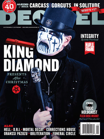 King Diamond - decibel magazine cover - January 2014 - Issue #111