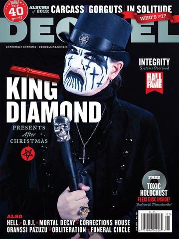 King Diamond - decibel magazine cover - January 2014 - Issue #111