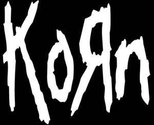 Korn - classic logo - B&W - 2013