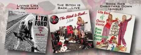 Lita Ford - CD Releases - Promo Banner - 2013