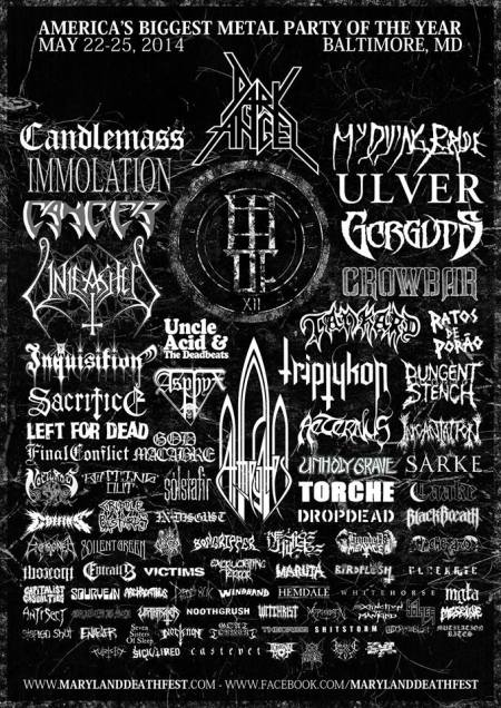 Maryland Death Fest - promo flyer - 2014