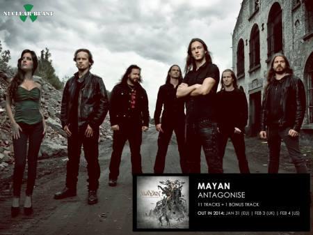 Mayan - Antagonise - promo band pic - 2013 - #405
