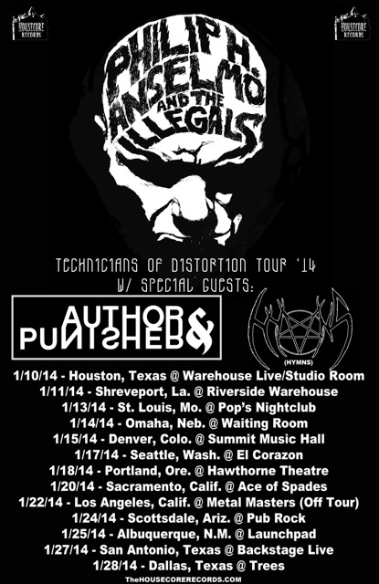 Philip H. Anselmo And The Illegals - 2014 Tour Promo Flyer - #109