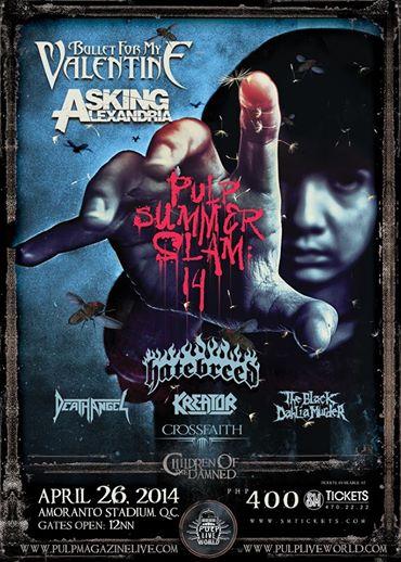 Pulp Summer Slam - 2014 - promo flyer