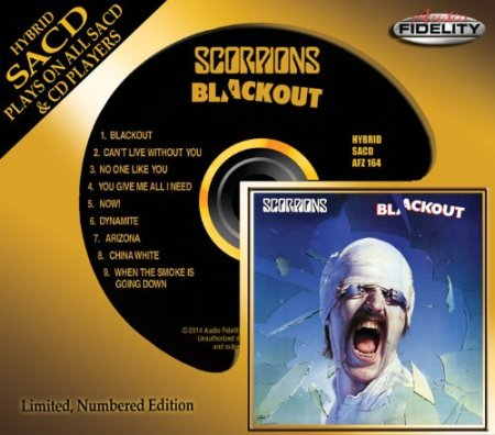 Scorpions - Blackout - Audio Fidelity - promo cover pic - gold - 2014