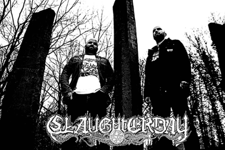 Slaughterday - promo band pic - band logo - 2013