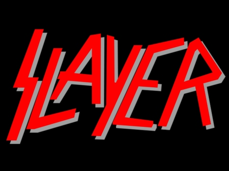Slayer - large logo - red - black - white