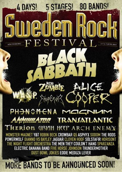 Sweden Rock Festival - 2014 - promo flyer - #136 - 2014
