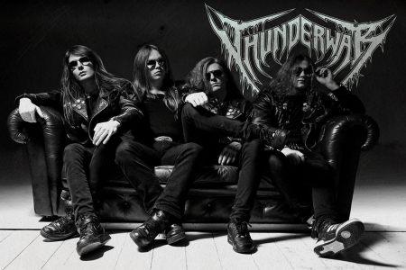 Thunderwar - promo band pic - logo - B&W - 2013 - #7