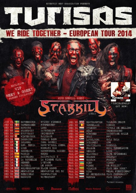 Turisas - European Tour - 2014 - promo flyer