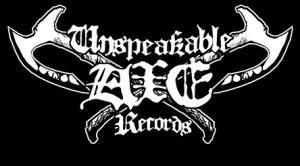 Unspeakable Axe Records - large logo - B&W - 2013