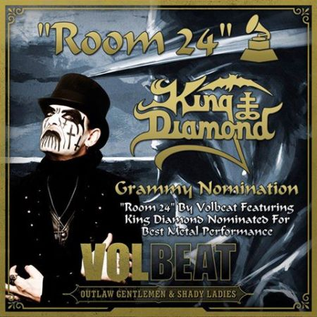Volbeat - King Diamond - Room 24 - grammy nomination - 2013 - promo pic
