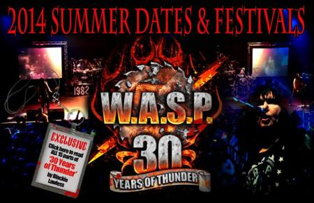 W.A.S.P. - 2014 Summer Dates & Festivals - promo banner - 2013