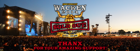 Wacken Open Air - 2014 - Sold Out - promo banner