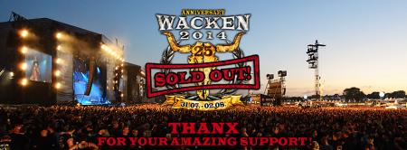 Wacken Open Air - 2014 - Sold Out - promo banner