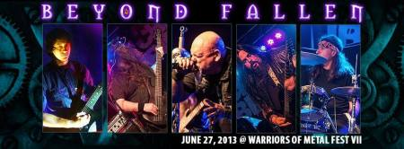 Beyond Fallen - promo band banner - live - 2014 - warriors of metal fest