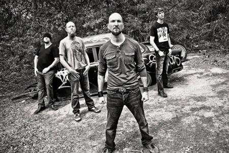 Dead Earth Politics - promo band pic - B&W - #3399 - 2014