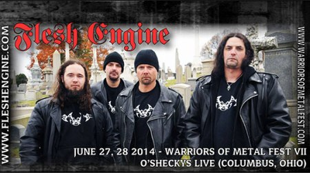Flesh Engine - promo band pic - Warriors Of Metal Fest - 2014
