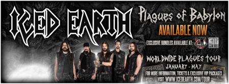 Iced Earth - Plagues Of Babylon - promo album banner - #1209 - 2014