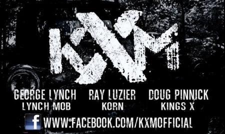 KXM - Promo Band Logo Banner - 2014 - B&W - #1